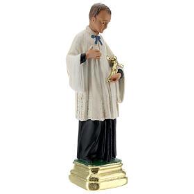 St Luigi Gonzaga statue, 20 cm in plaster Arte Barsanti s3