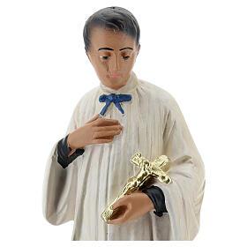 Statuette Saint Louis de Gonzague plâtre 25 cm Arte Barsanti s2