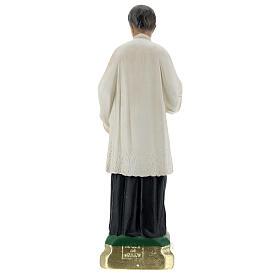 Statuette Saint Louis de Gonzague plâtre 25 cm Arte Barsanti s5