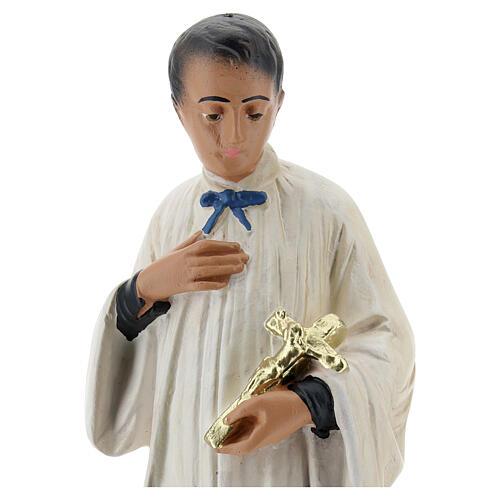 Statuette Saint Louis de Gonzague plâtre 25 cm Arte Barsanti 2
