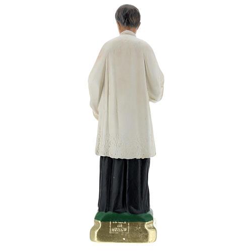 Statuette Saint Louis de Gonzague plâtre 25 cm Arte Barsanti 5