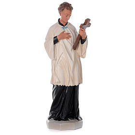 St. Aloysius Gonzaga hand painted plaster statue Arte Barsanti 80 cm s1