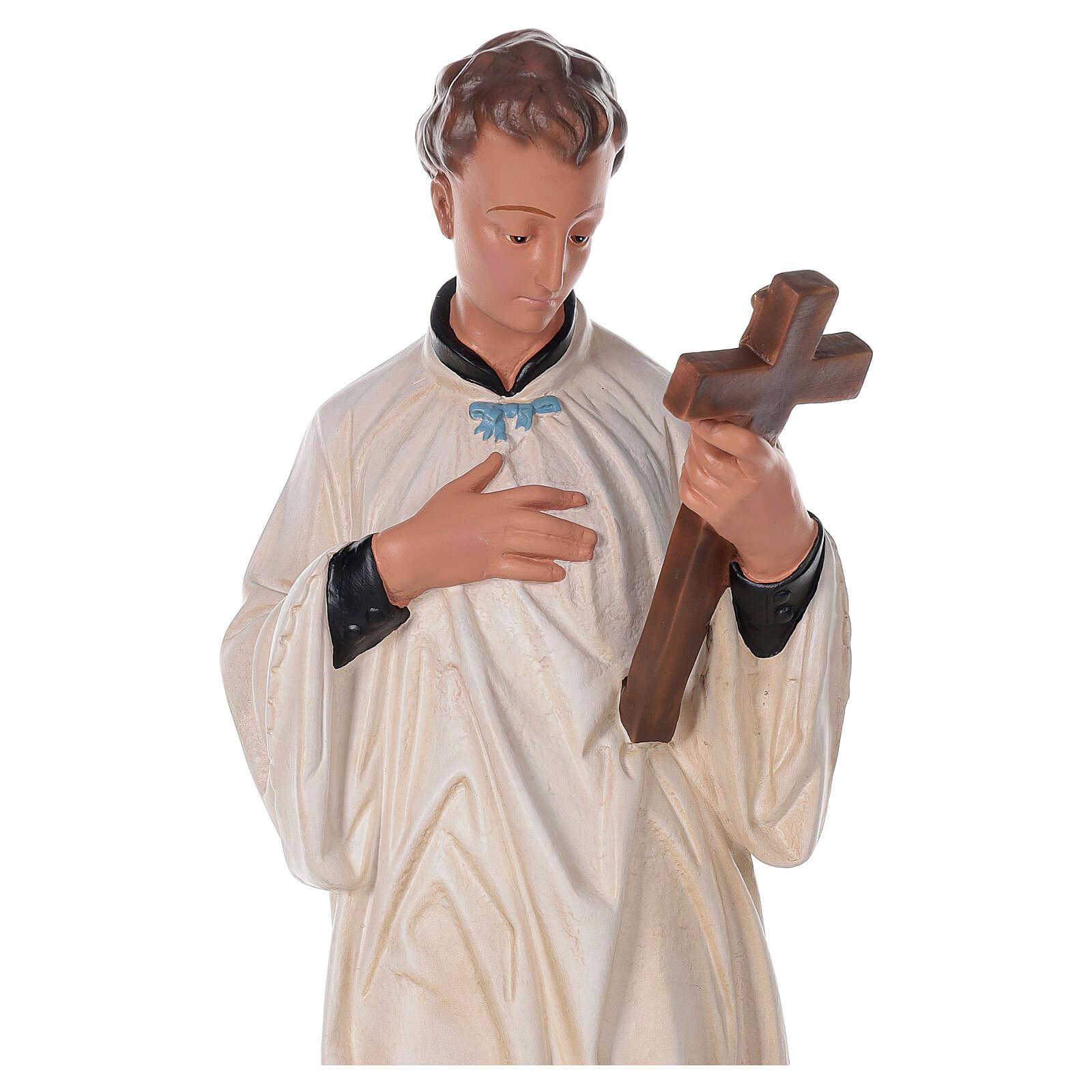 San Luís Gonzaga estatua pintada a mano yeso 80 cm Arte Barsanti 4