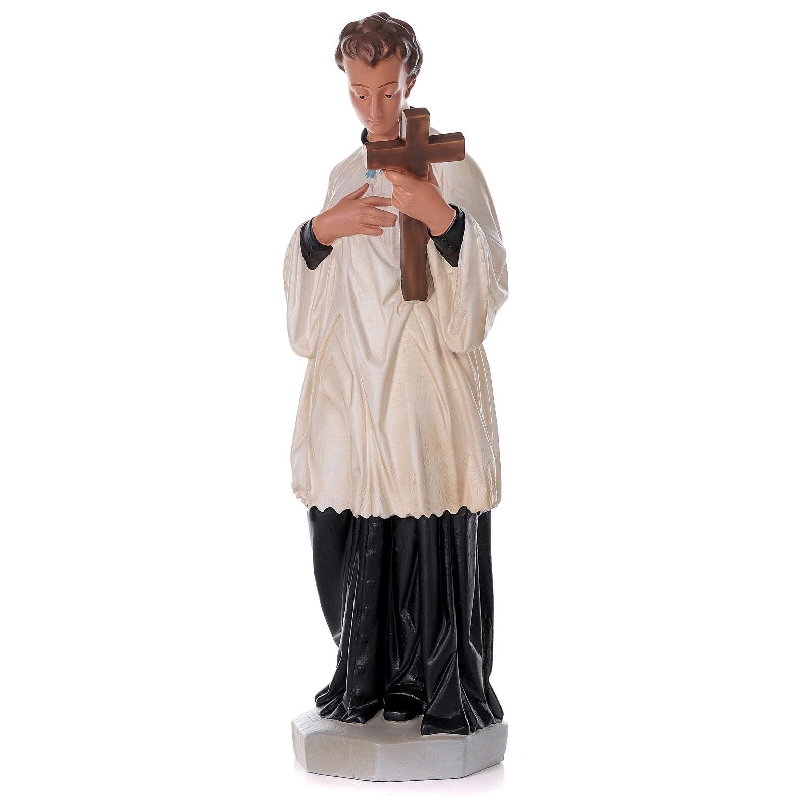 Saint Louis de Gonzague statue peinte main plâtre 80 cm Arte Barsanti 4