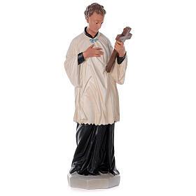 Saint Louis de Gonzague statue peinte main plâtre 80 cm Arte Barsanti s1