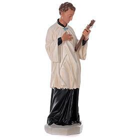 Saint Louis de Gonzague statue peinte main plâtre 80 cm Arte Barsanti s4