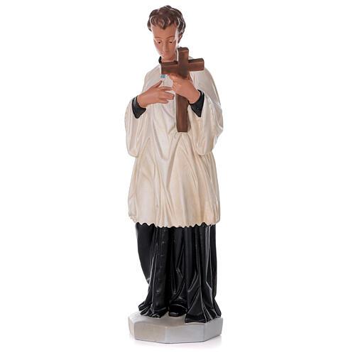 Saint Louis de Gonzague statue peinte main plâtre 80 cm Arte Barsanti 3
