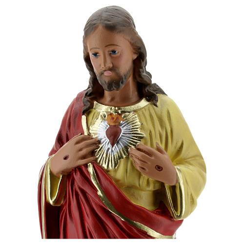 Sacred Heart of Jesus hands to chest plaster statue 30 cm Arte Barsanti 2