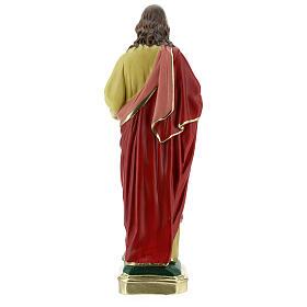 Sacré-Coeur de Jésus statue plâtre 40 cm peinte à la main Barsanti s7