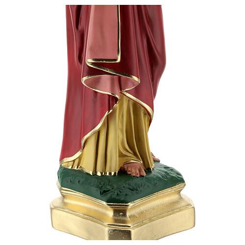 Sagrado Corazón Jesús manos en el pecho 50 cm estatua yeso Barsanti 6
