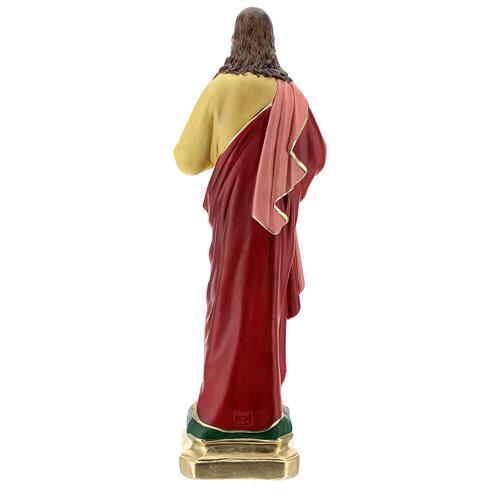 Sagrado Corazón Jesús manos en el pecho 50 cm estatua yeso Barsanti 7