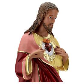 Sagrado Corazón Jesús 60 cm manos en el pecho estatua yeso Barsanti s4