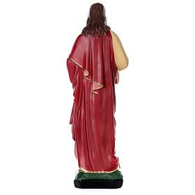 Sacré-Coeur Jésus peint main 80 cm plâtre Arte Barsanti s5