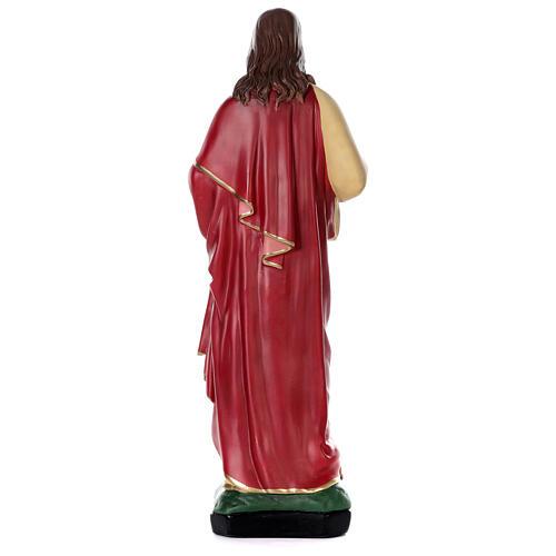 Sacré-Coeur Jésus peint main 80 cm plâtre Arte Barsanti 5