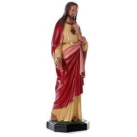 Statue Sacré-Coeur Jésus résine 80 cm peinte main Arte Barsanti s4