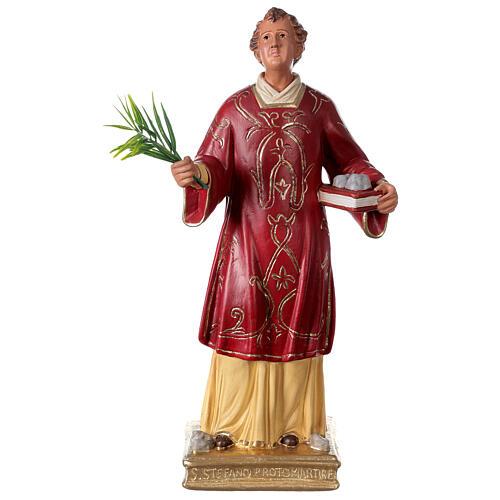 St. Stephen hand painted plaster statue Arte Barsanti 40 cm 1
