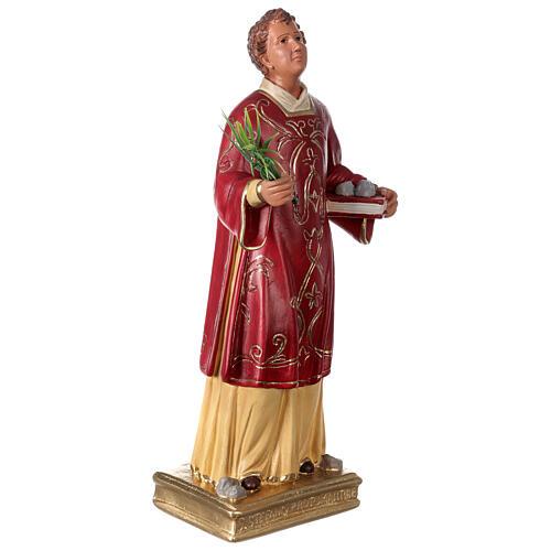 St. Stephen hand painted plaster statue Arte Barsanti 40 cm 4