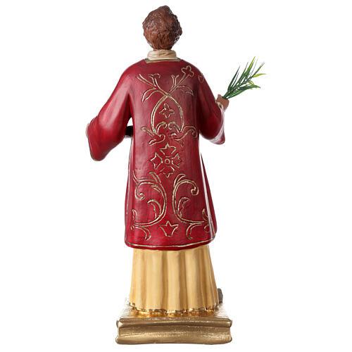 St. Stephen hand painted plaster statue Arte Barsanti 40 cm 5