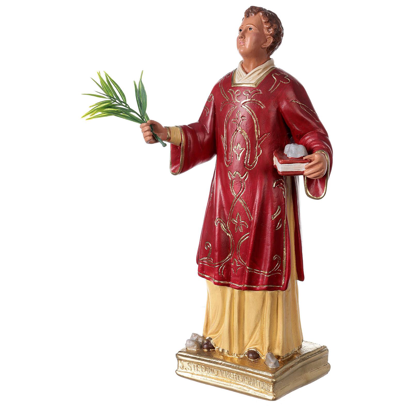Saint Étienne statue plâtre 40 cm Arte Barsanti 4