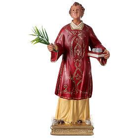 Saint Étienne statue plâtre 40 cm Arte Barsanti s1