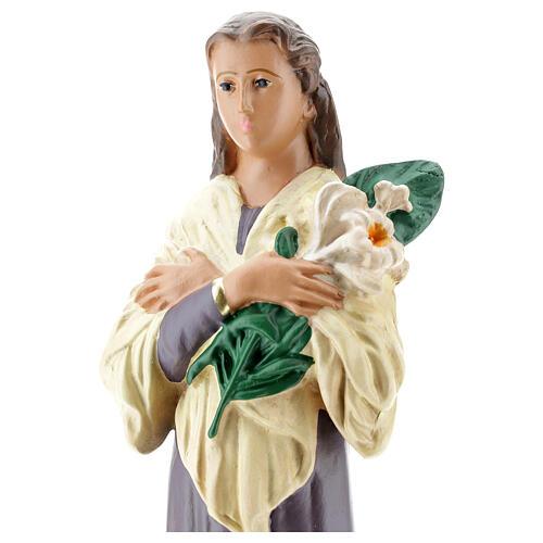 Santa María Goretti estatua yeso 30 cm Arte Barsanti 2