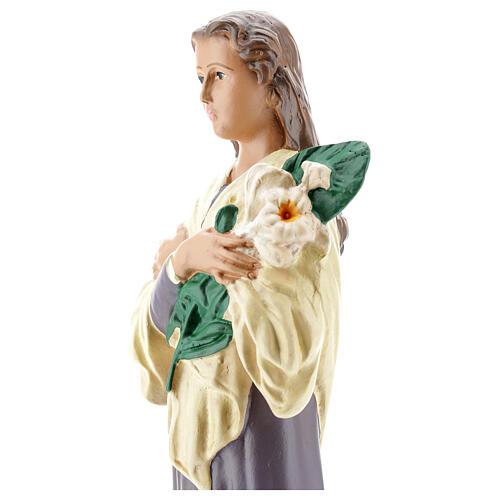Santa María Goretti estatua yeso 30 cm Arte Barsanti 4