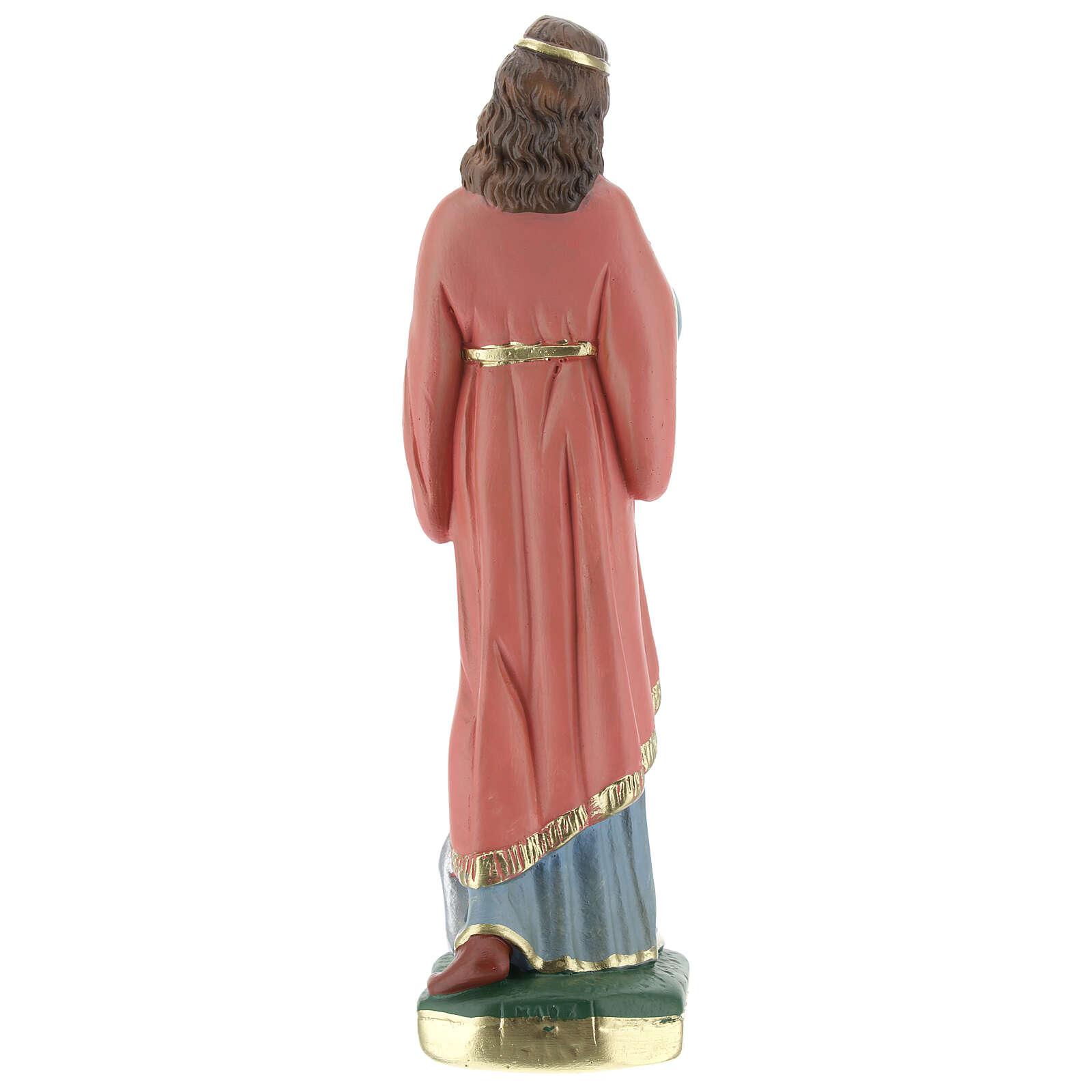 Santa Filomena estatua yeso 20 cm Arte Barsanti 4