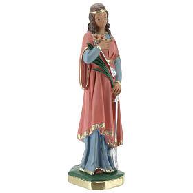 Santa Filomena estatua yeso 20 cm Arte Barsanti s4