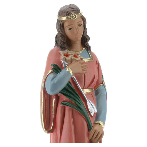 Santa Filomena estatua yeso 20 cm Arte Barsanti 2