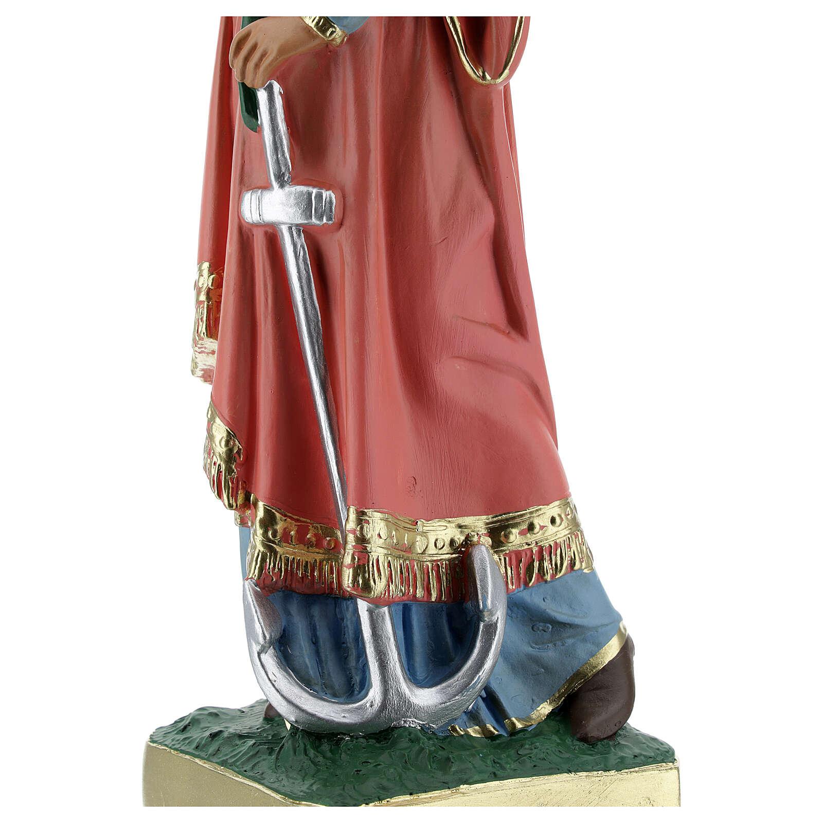 Estatua Santa Filomena 30 cm yeso pintada a mano Barsanti 4