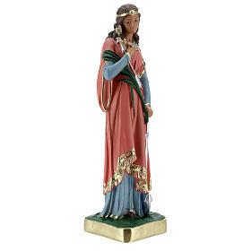 Estatua Santa Filomena 30 cm yeso pintada a mano Barsanti s5