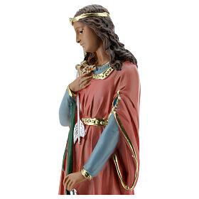 Statue Sainte Philomène 30 cm plâtre peinte main Barsanti s2