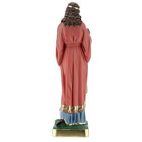 Statue Sainte Philomène 30 cm plâtre peinte main Barsanti s7