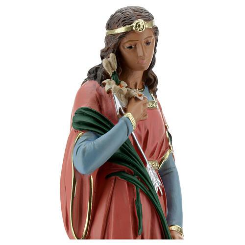Statue Sainte Philomène 30 cm plâtre peinte main Barsanti 4