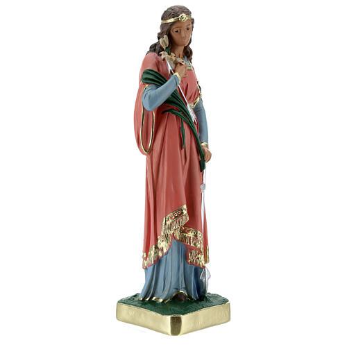 Statue Sainte Philomène 30 cm plâtre peinte main Barsanti 5