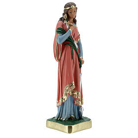 Statua Santa Filomena 30 cm gesso dipinta a mano Barsanti s5