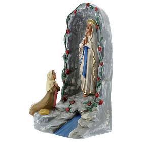 Grotte de Lourdes statue plâtre 20 cm peinte à la main Barsanti s3