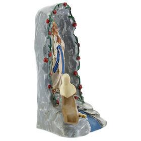 Grotte de Lourdes statue plâtre 20 cm peinte à la main Barsanti s4