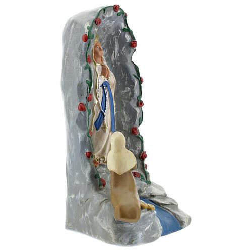 Grotte de Lourdes statue plâtre 20 cm peinte à la main Barsanti 4