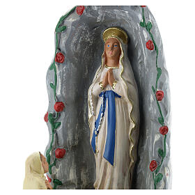 Grotta di Lourdes statua gesso 20 cm dipinta a mano Barsanti s2