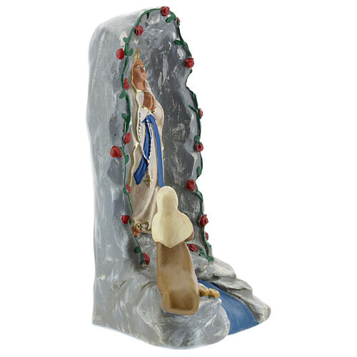 Lourdes Grotto statue 20 cm, hand painted plaster Barsanti 4