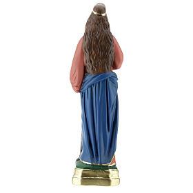 Estatua Santa Bárbara yeso 30 cm Arte Barsanti s4