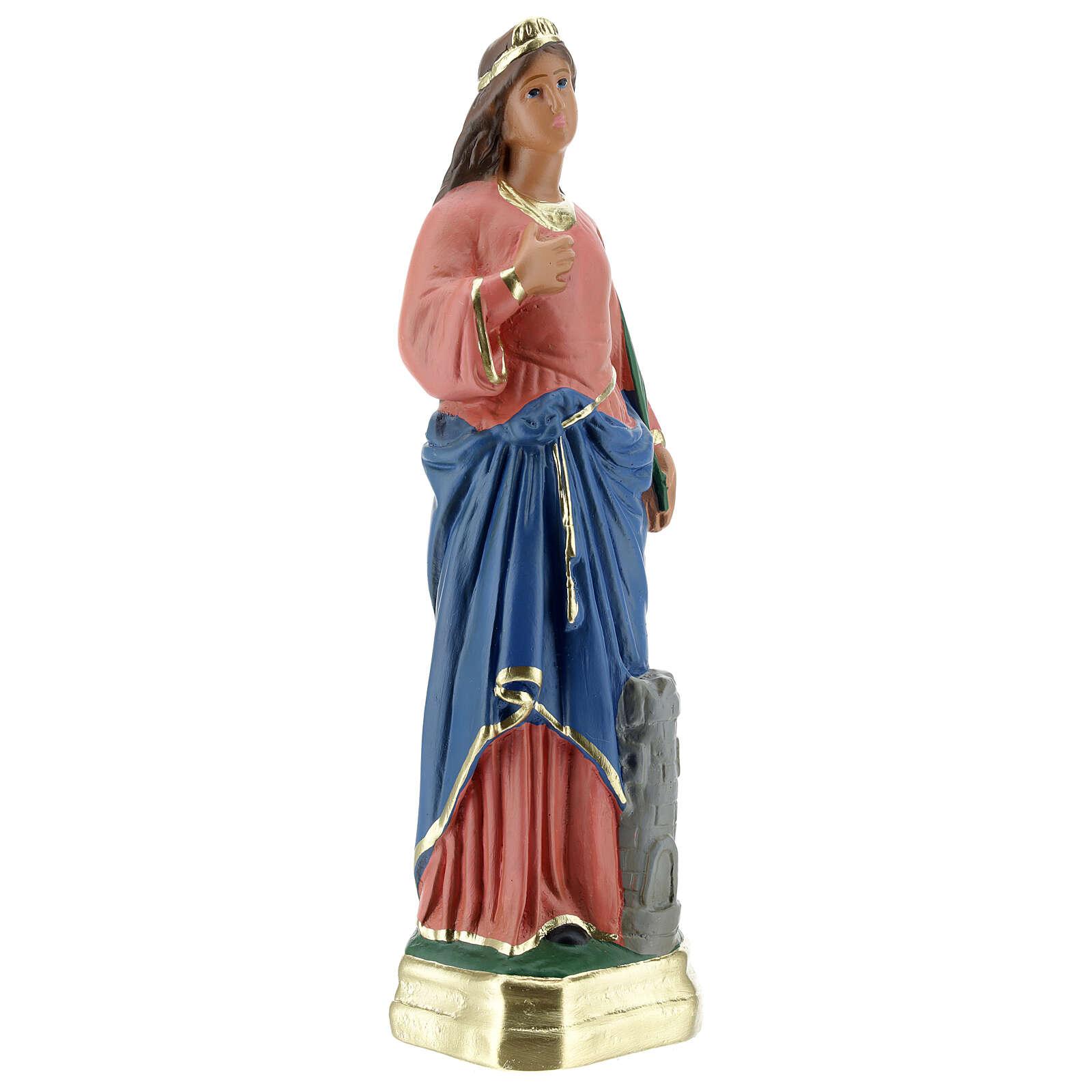 Statua Santa Barbara gesso 30 cm Arte Barsanti 4