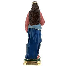 Sainte Barbe statue plâtre 60 cm peinte main Barsanti s6