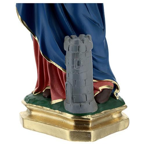 Sainte Barbe statue plâtre 60 cm peinte main Barsanti 5