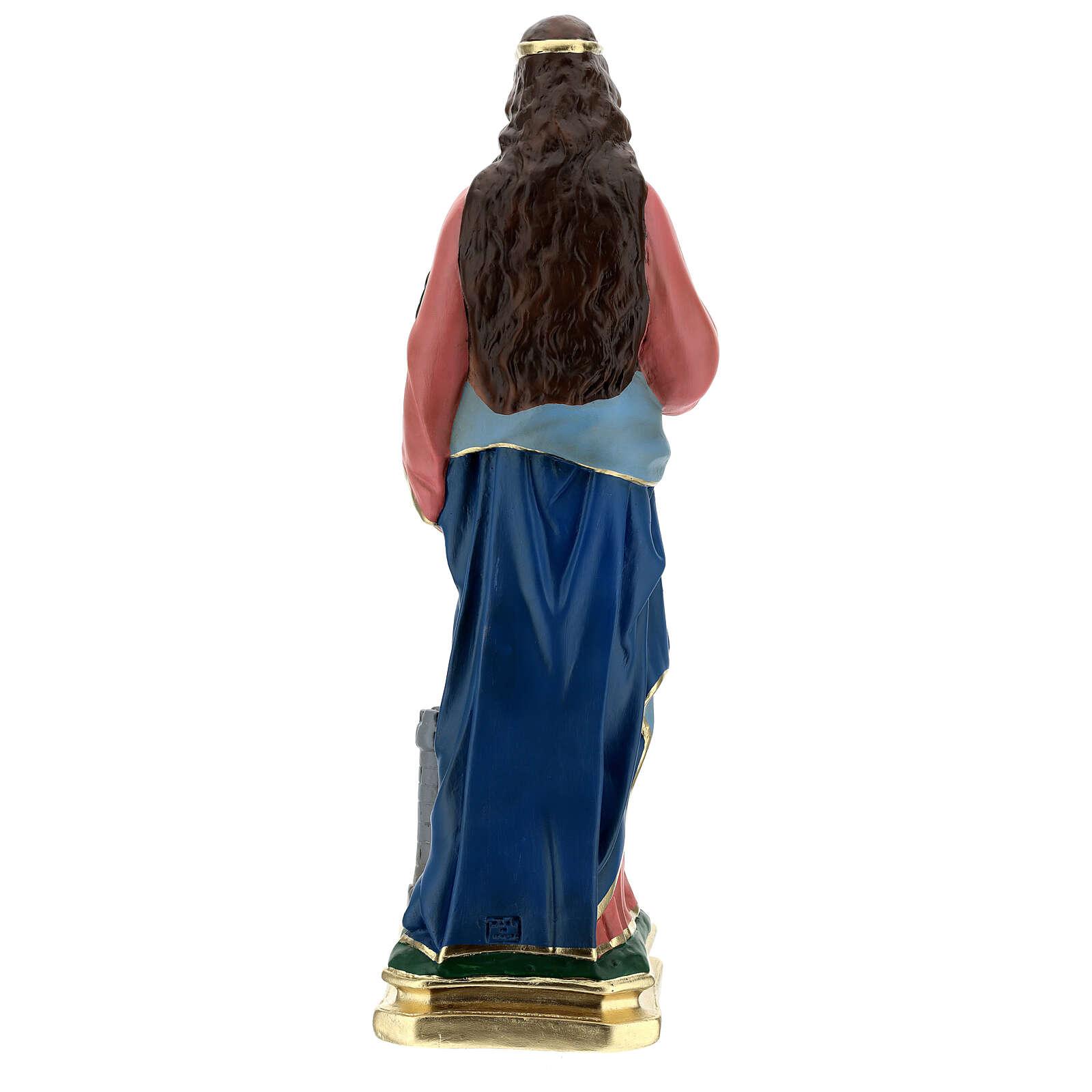 Saint Barbara statue, 60 cm hand painted plaster Barsanti 4