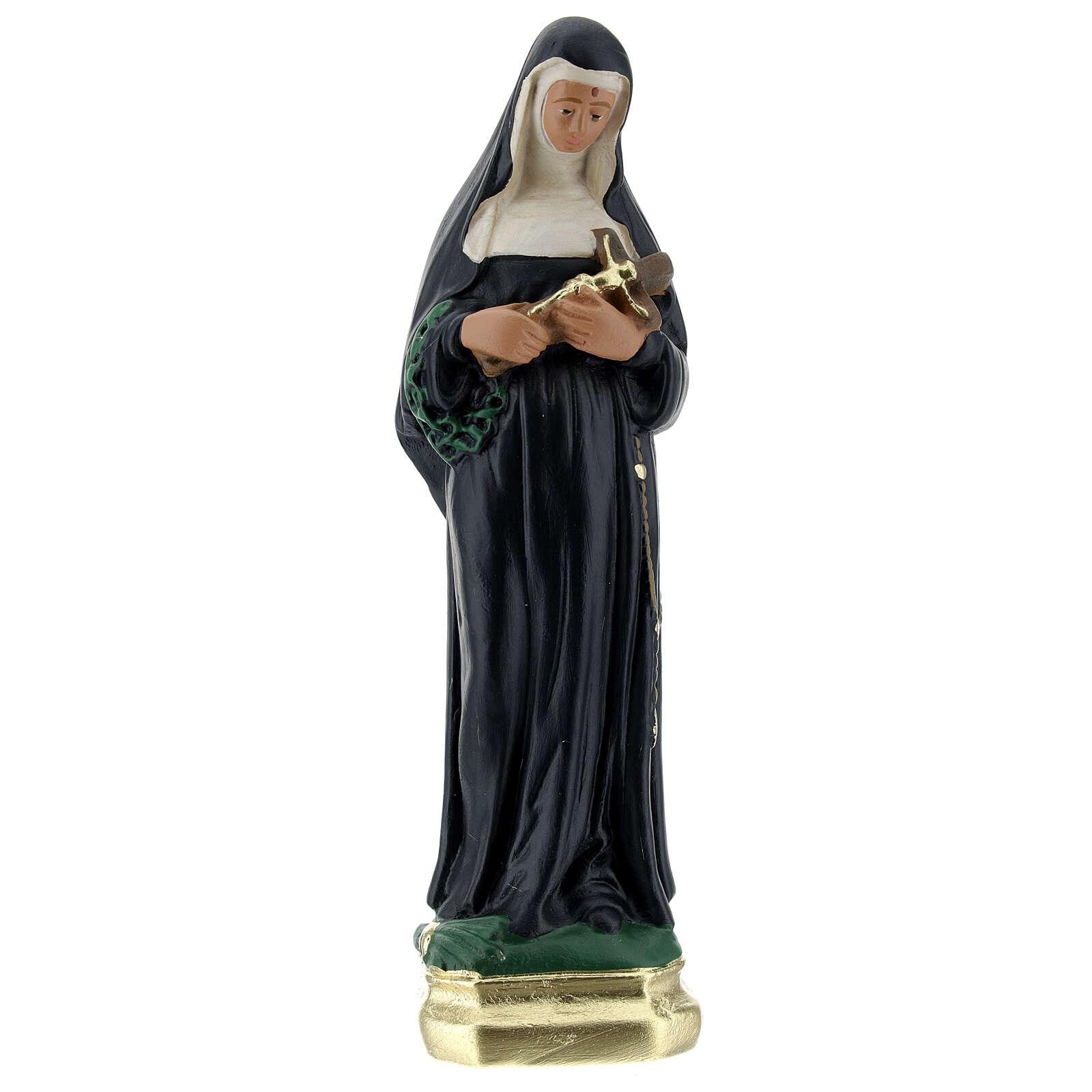 St Rita of Cascia statue, 20 cm in plaster Arte Barsanti 4