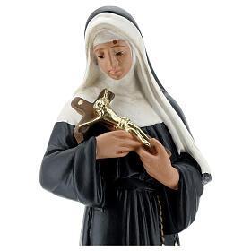 St. Rita of Cascia plaster statuette 30 cm Arte Barsanti.