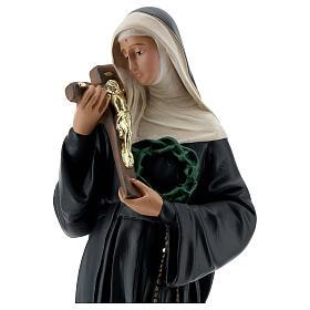 Estatua Santa Rita de Casia 40 cm yeso pintada a mano Barsanti s2