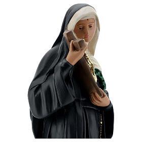 Estatua Santa Rita de Casia 40 cm yeso pintada a mano Barsanti s4